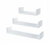 Półka wisząca ścienna P003 biała