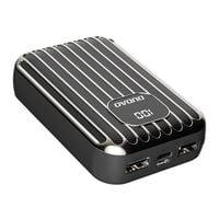Dudao Power Bank 10000 Mah 2X Usb / Usb Typ C / Micro Usb 2 A Z Ekranem Led Czarny (K11Pro-B)