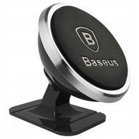 Baseus Uchwyt Magnetyczny 360 stopni - Samochodowy przyklejany do deski | Kolor: Srebrny