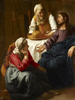 Reprodukcje obrazów Chrystus w domu Marty i Marii - Jan Vermeer Rozmiar - 80x60
