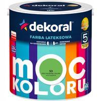 Farba lateks MOC KOLORU 2,5L zdecydowanie zielony