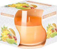 BISPOL a1 AURA Tropikalne Owoce  - świeca zapachowa w szkle sn71-71