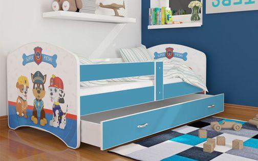 Łóżko 140x80 LUKI szuflada + materac