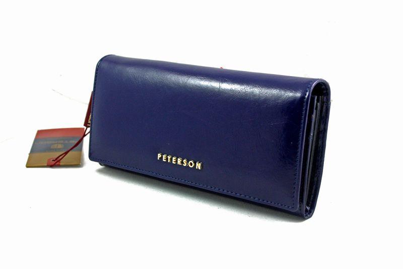 Duży granatowy portfel damski, RFID, Peterson zdjęcie 5