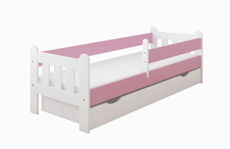 Łóżko STAŚ 140 x 70 z szufladą + barierka ochronna + MATERAC GRATIS zdjęcie 9