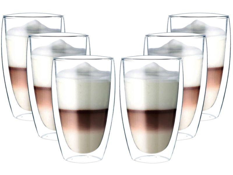 Szklanki z Podwójną Ścianką do Kawy Latte Herbaty 380ml 6 sztuk zdjęcie 1