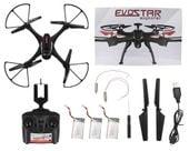DRON EVOSTAR Explorer RQ77-14W z Kamerą WiFi 6Axis 3Aku Czarny Z25C