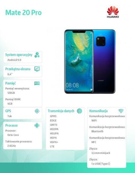 Huawei Smartfon Mate 20 Pro DUAL SIM Twilight