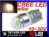 żarówka LED T10 Cree UHP biała ciepła 12v 24v wysoka jakość MOCNA