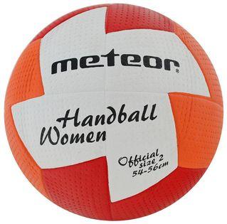 Piłka ręczna Meteor nu Age damska 2 czerwono-pomarańczowa 4068