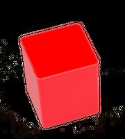 Pojemnik magazynowy, warsztatowy 54x54x63 mm. Czerwony.
