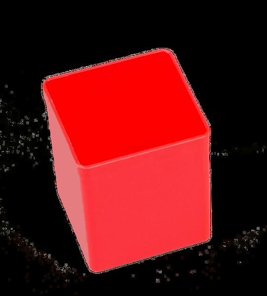Pojemnik magazynowy, warsztatowy 54x54x63 mm. Czerwony. na Arena.pl