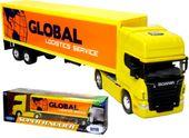 METALOWY Tir CIĘŻARÓWKA SCANIA GLOBAL V8 R730 MODEL Welly