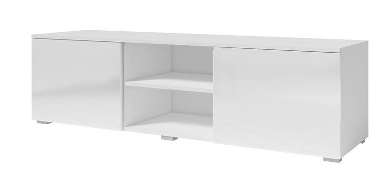 MD1 - Komoda RTV 150 MODO - biały mat/czarny połysk MODO - Biały mat / biały połysk zdjęcie 1