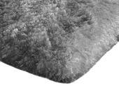 Mięciutki wysoki dywan pluszowy 140x200 srebrny