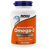 Now Foods Omega-3 1000 mg - 200 kapsułek