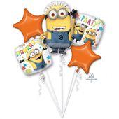 Bukiet balonów foliowych Minionki 5 szt
