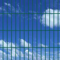 VidaXL 2D Panele i słupki ogrodzeniowe 2008x2230 mm 32 m zielone
