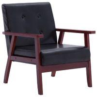 Fotel telewizyjny, czarny, sztuczna skóra