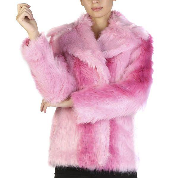 Guess damska kurtka/futerko zimowe różowy M zdjęcie 1