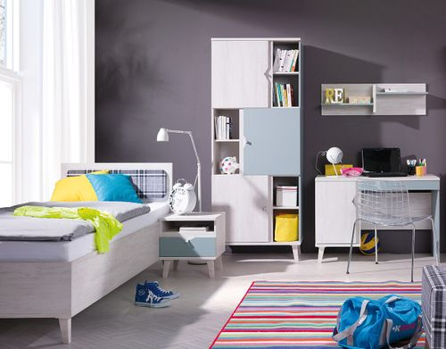 Zestaw mebli do pokoju dziecka z łóżkiem i biurkiem MEMONE 20 na Arena.pl
