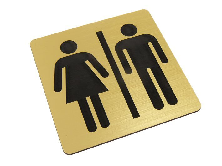 TABLICZKA NA DRZWI WC toaleta damsko męska piktogram zdjęcie 1