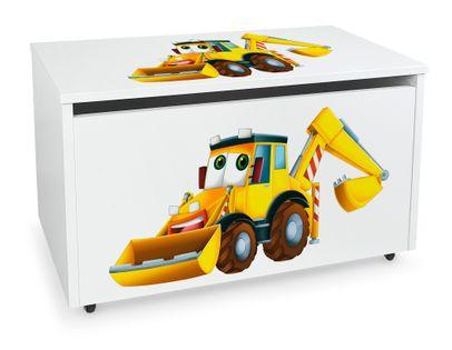 Mobilna skrzynia na zabawki duża Koparka