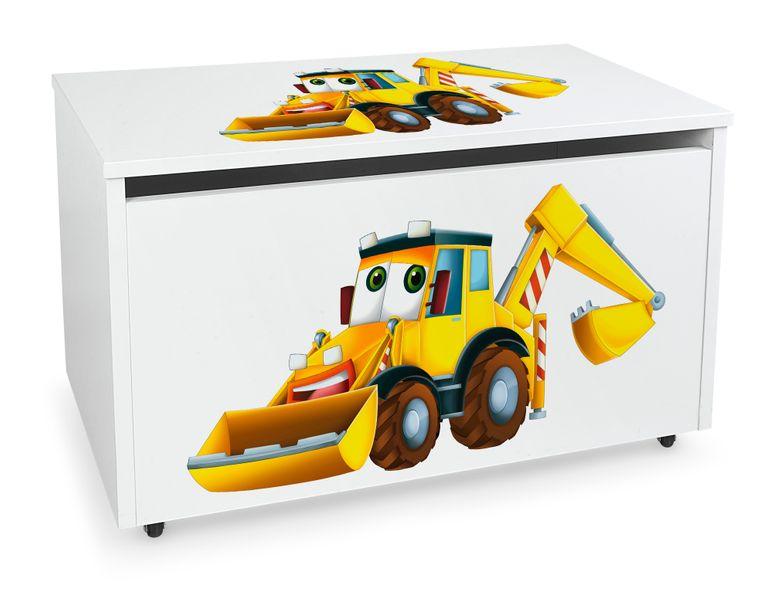 Mobilna skrzynia na zabawki duża Koparka na Arena.pl