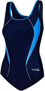 Kostium pływacki KATE Rozmiar - Stroje damskie - 42(XL), Kolor - Stroje damskie - Kate - 42 - granat / niebieski