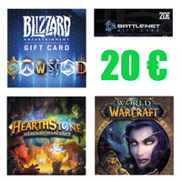 Karta 20 Euro Battle.net Blizzard WOW, HearthStone