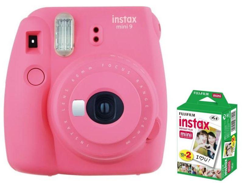 Fujifilm Instax Mini 9 Różowy Aparat Polaroid + Wkłady 20 szt. zdjęcie 1