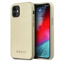 "Guess GUHCP12SIGLGO iPhone 12 mini 5,4"" złoty/gold hardcase Iridescent"