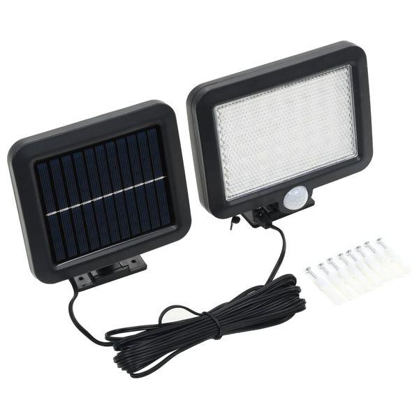 Lampa solarna z czujnikiem ruchu, białe LED zdjęcie 1