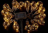 Ogrodowe lampki solarne BULB LED białe 15szt 480cm swe