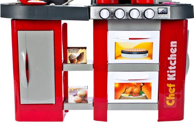Duża Kuchnia dla dzieci Piekarnik Zlew Akcesoria kuchenne Kran U38 zdjęcie 4