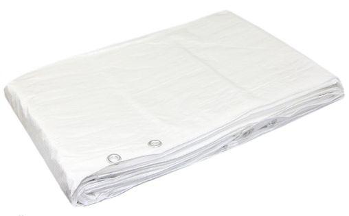 Plandeka 3x5m (biała) ochronna, wzmacniana 90g/m2
