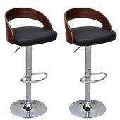 2 stołki barowe z drewnianym oparciem, regulowana wysokość