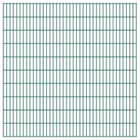 VidaXL Panele ogrodzeniowe 2D - 2008x2030 mm 32 m Zielone