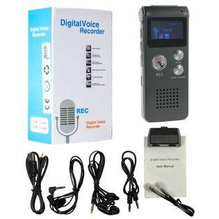 PROFESJONALNY DYKTAFON CYFROWY 8GB USB MENU J.POLSKI S120