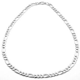Łańcuszek srebrny gruby figaro 60 cm