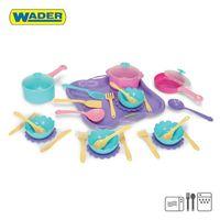 Zestaw obiadowy 31 el. zabawka dla dzieci wader ok