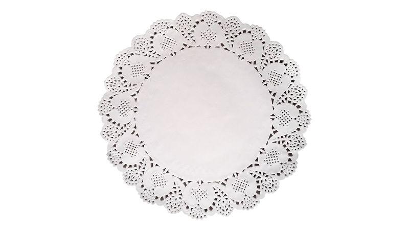 Serwetki Papierowe Ozdobne Pod Ciasto Tort Białe 30cm 100szt