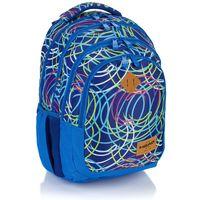 Plecak szkolny młodzieżowy Astra Head HD-103, niebieski w kolorowe wzory