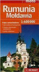 Rumunia, Mołdawia mapa samochodowa 1:600 000 praca zbiorowa