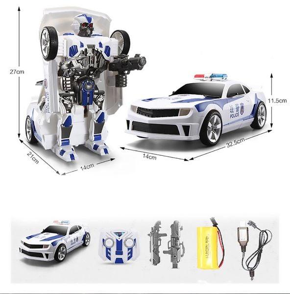 Transformers auto policja robot sterowany pilotem RC Y170 zdjęcie 5
