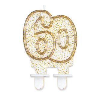 Świeczka Cyferka 60 na sześćdziesiąte Urodziny