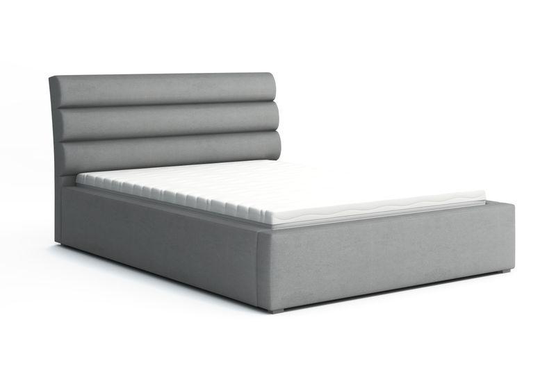 Łóżko tapicerowane 180x200 zagłówek pojemniki ogranicznik MARK zdjęcie 1