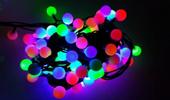 LAMPKI CHOINKOWE KULKI 40 LED MULTI