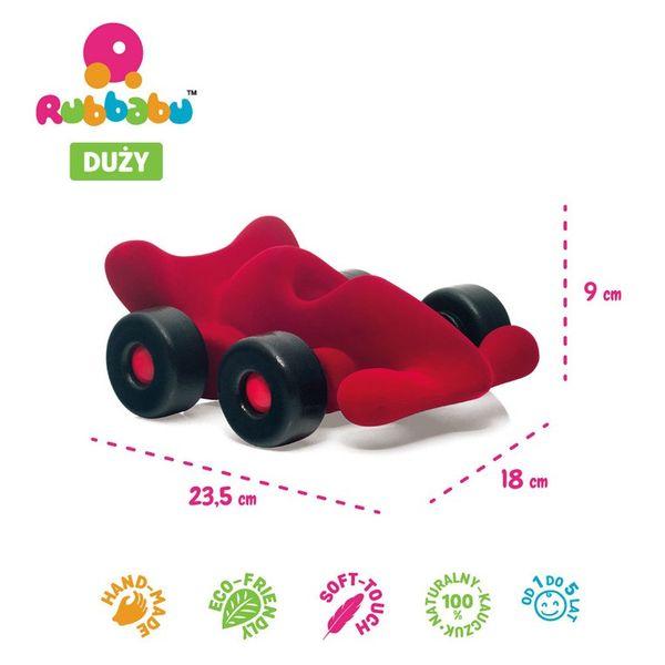 Rubbabu Bolid Wyścigowy Sensoryczny Czerwony Duży