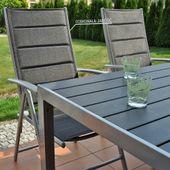 Meble ogrodowe aluminiowe Ibiza Silver / Black 6+1 zdjęcie 4